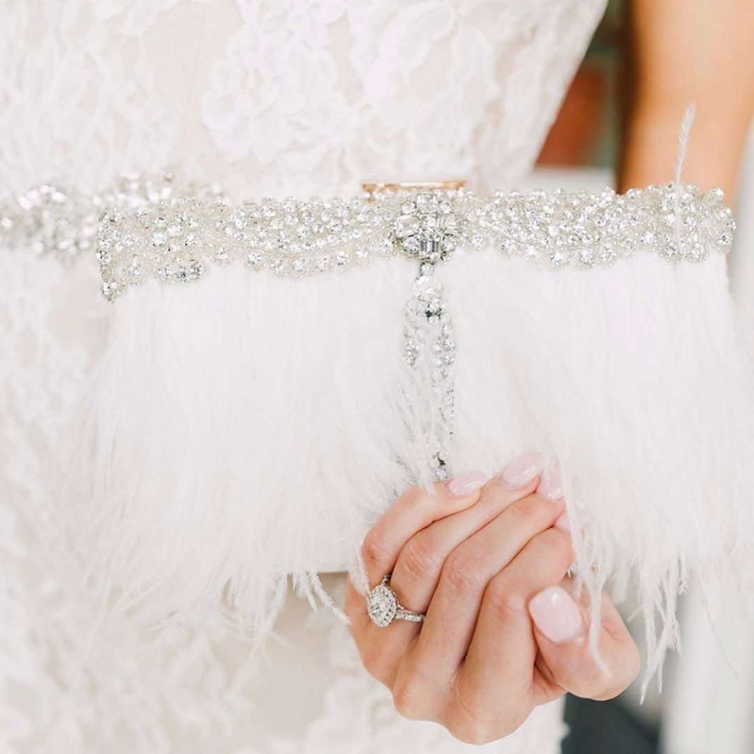 How gorgeous is real bride @kristennhood custom ostrich feather