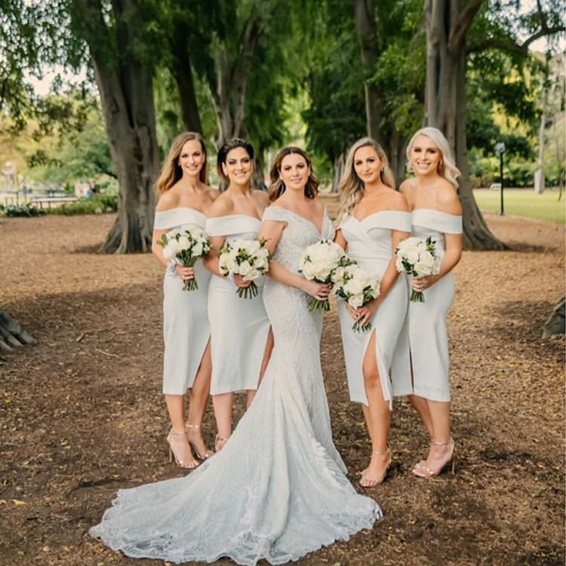 Beautiful bridesmaids in the Connelly Midi