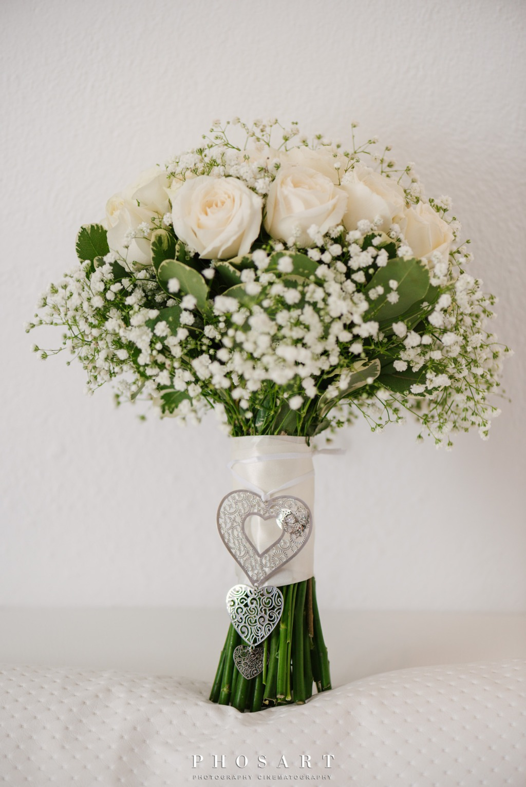 Bridal Bouquet! White Roses!