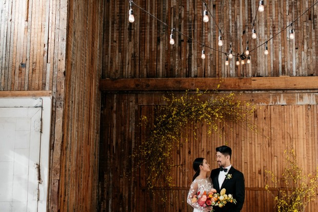 rustic modern wedding venue