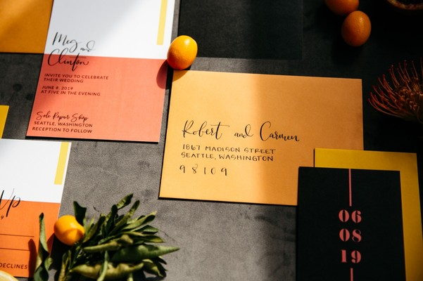 A Wedding Inspiration That's Fun, Bright, and Modern