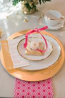 Fuchsia and Gold Bridal Shower