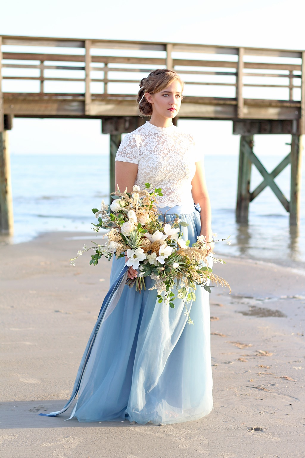Get swept away with this seaside styled shoot by Southern Girl Weddings and Afloral.com
