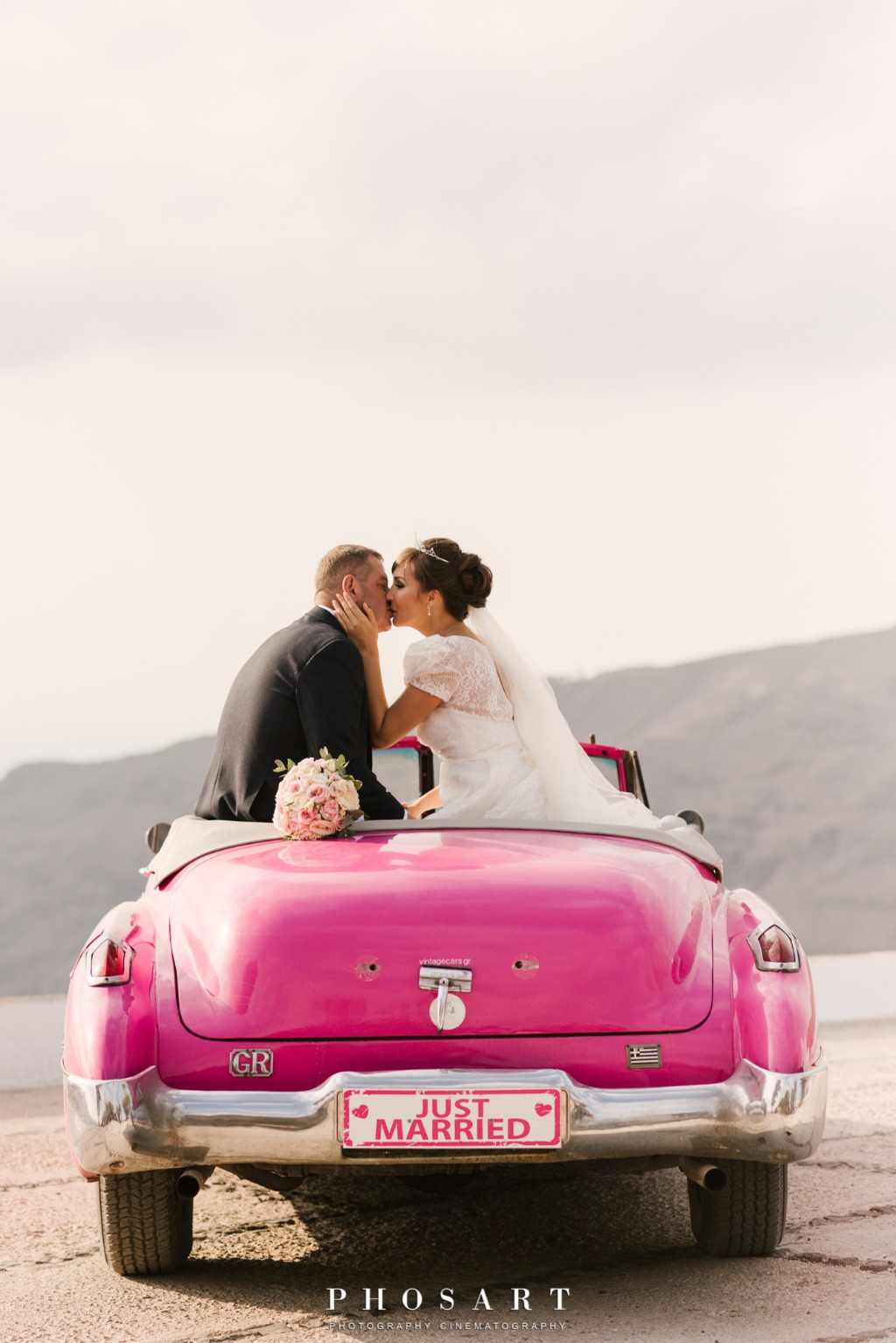 Just Married...in Santorini, Greece!