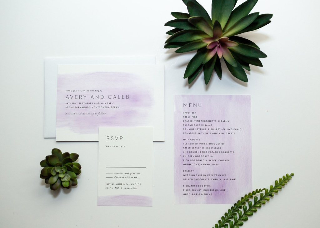 Add a splash of your favorite color to our Simple Brushstroke Wedding Invitation Suite! This modern design will be sure to wow!