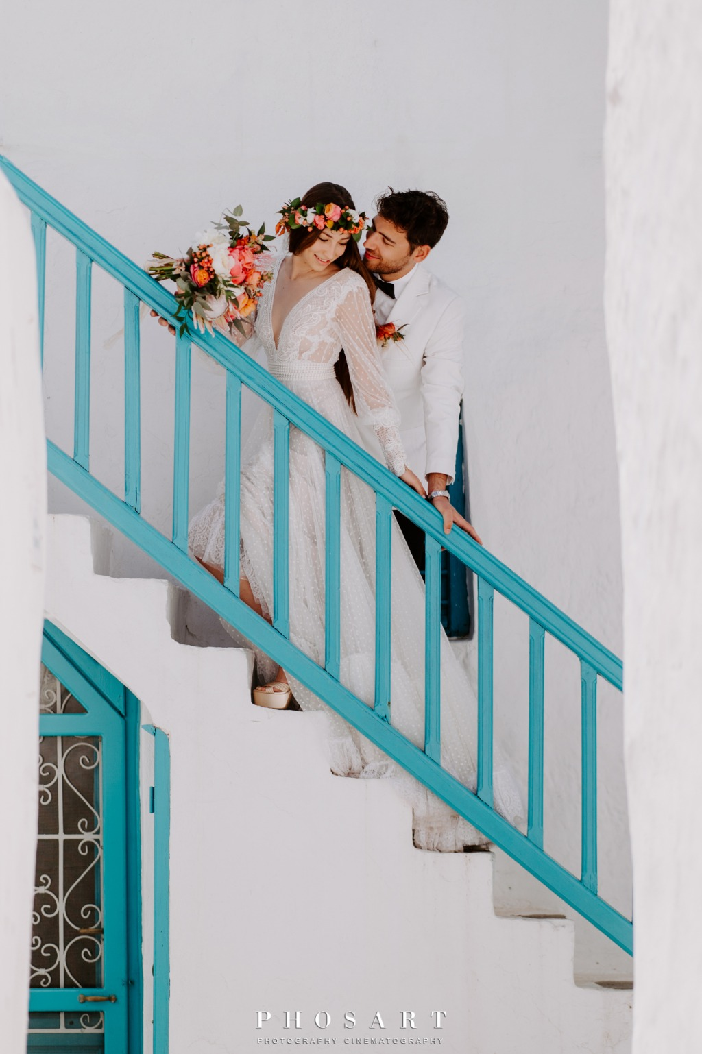 Elopement Wedding in Mykonos! After wedding photoshooting.