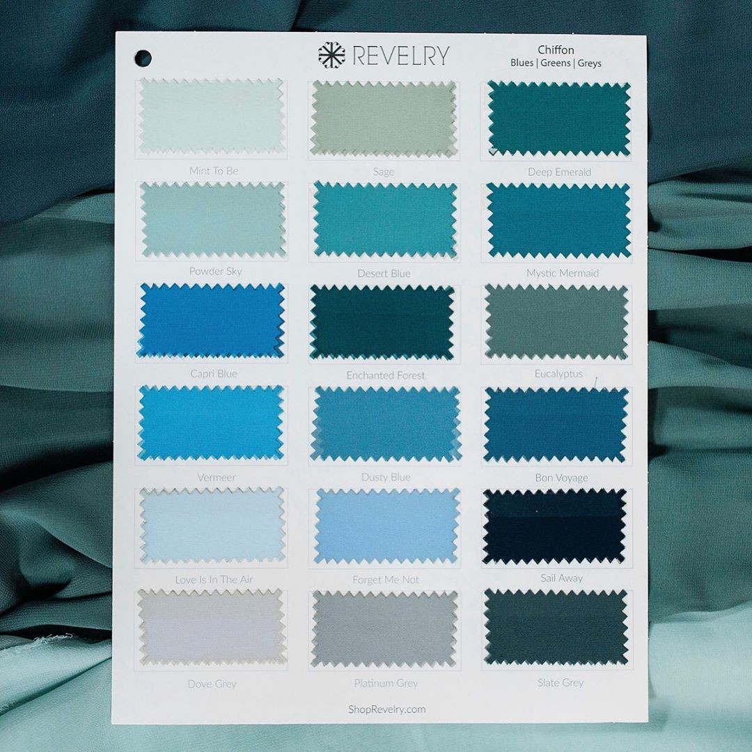 Soft chiffon swatches in the most bold & beautiful blues.💙
