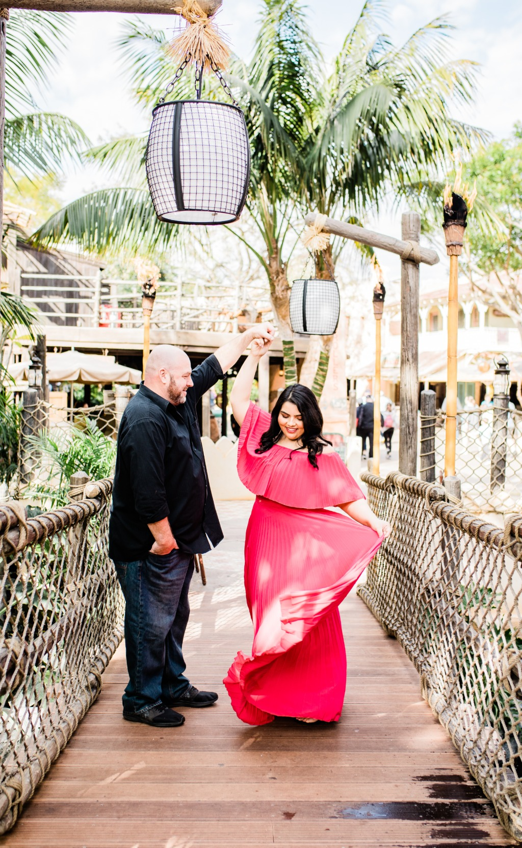 Disneyland is the best place for an engagement session!