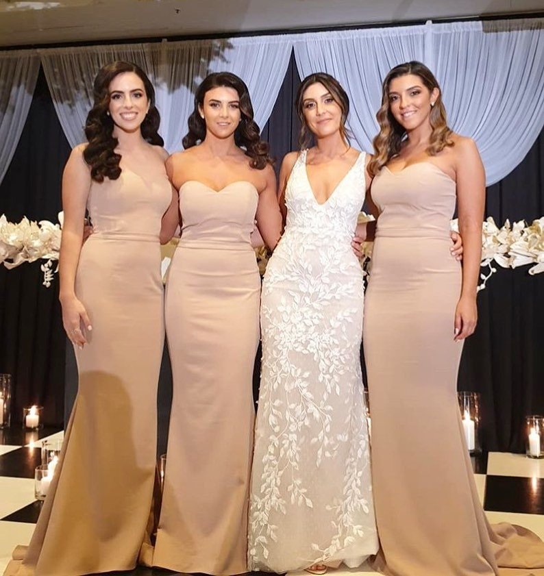 Katie's gorgeous #bridesmaids in our Nicolena Dress