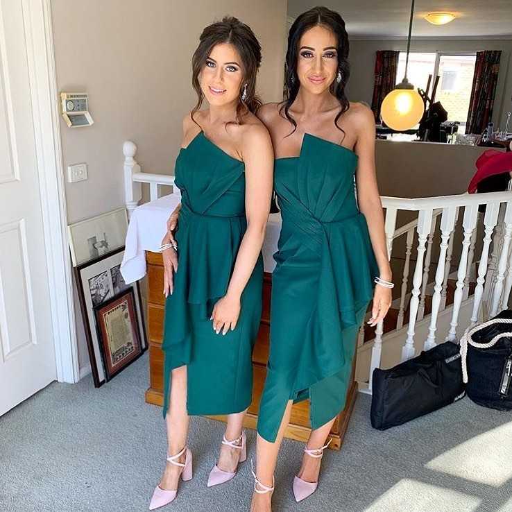 Gorgeous #bridesmaids in our Stellina Midi Dress
