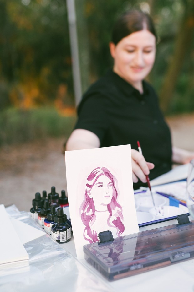 watercolor portraits for wedding