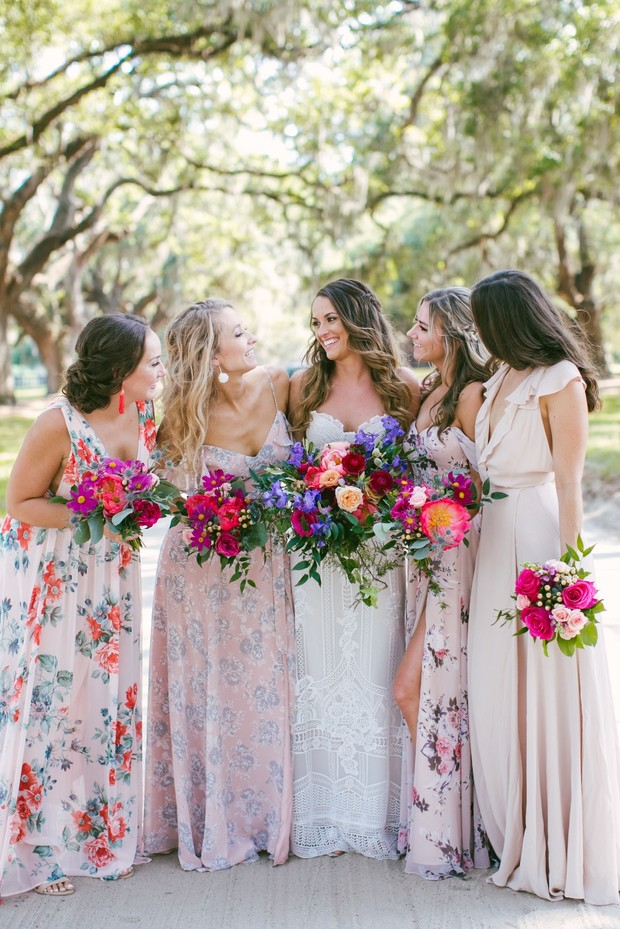 garden chic bridesmaids