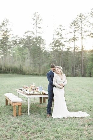 sweet couple at their farm fresh wedding day