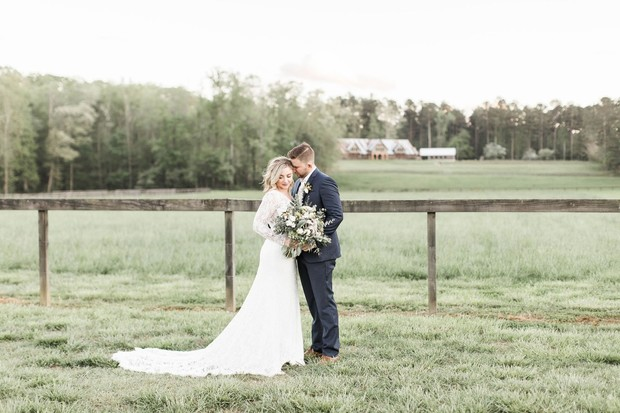 wedding couple at The Farm Rome Ga