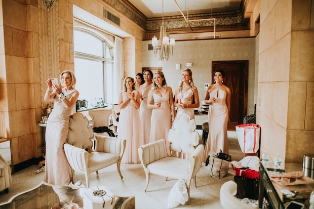 sweet bridal party wedding dress reveal