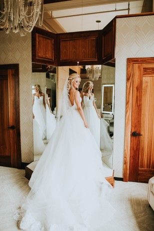 dramatic wedding dress