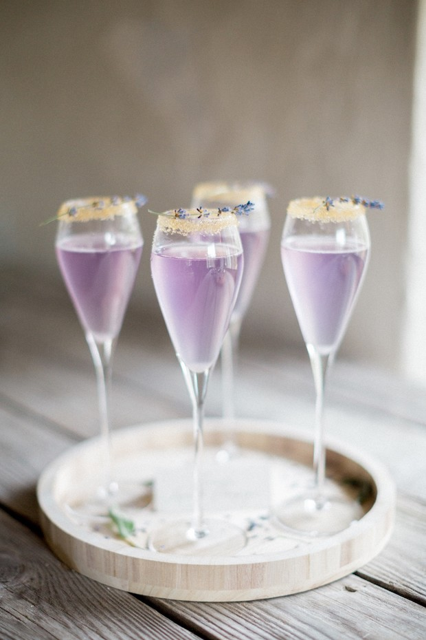 lilac wedding cocktails