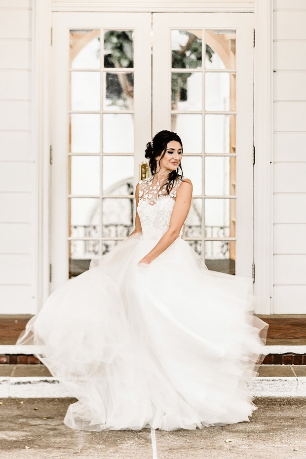 wedding dress from Luna Boutique