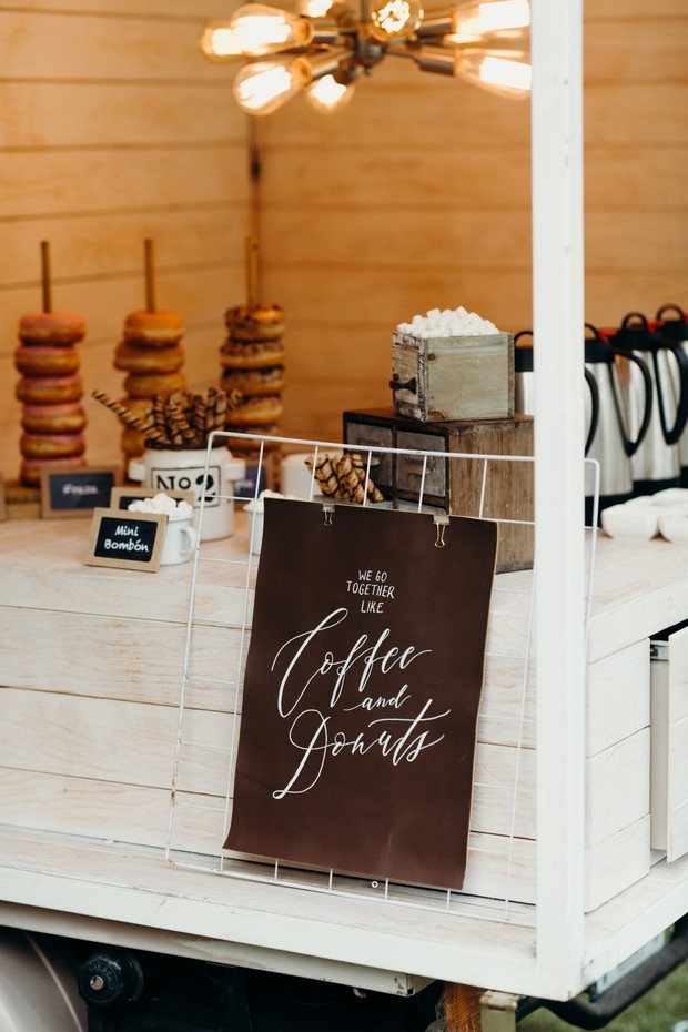 wedding donut and coffee bar