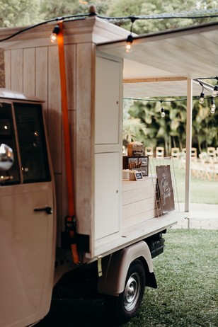 donut and coffee truck for wedding