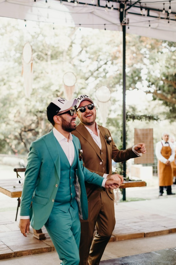 matching hats for the grooms