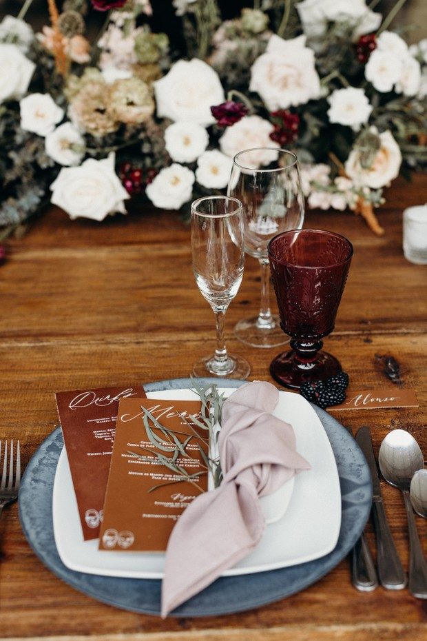 boho wedding place setting