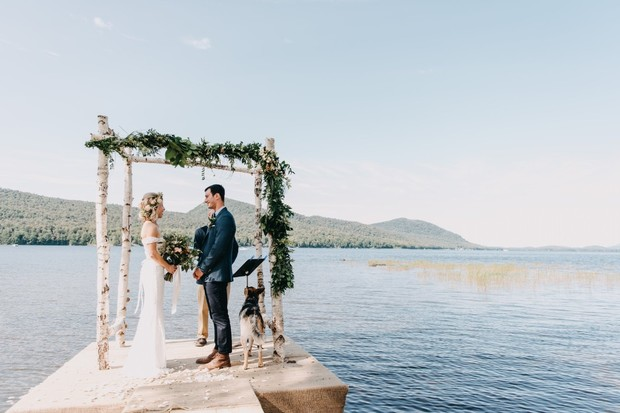 gorgeous lake ceremony