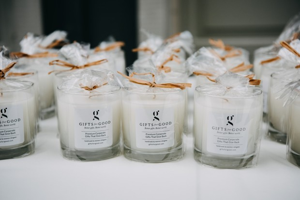 Gifts for Good wedding candle favor