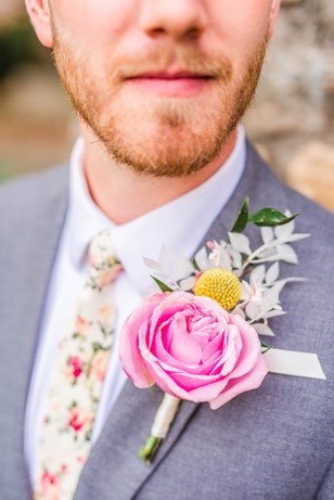 oversized groom boutonniere