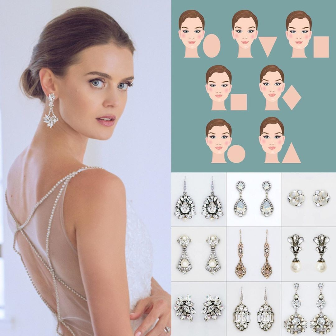 Look Fabulous! Learn which earrings are best for your face shape -> link in comments 😀😍💎🥂