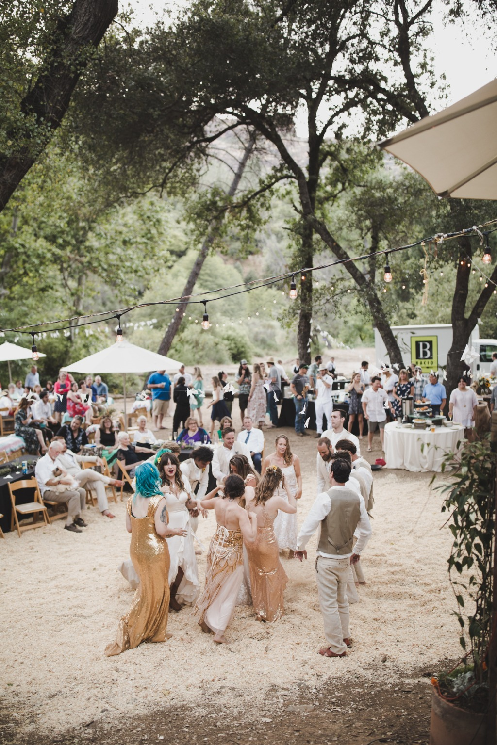 Bohemian wedding in the canyon by the water!
