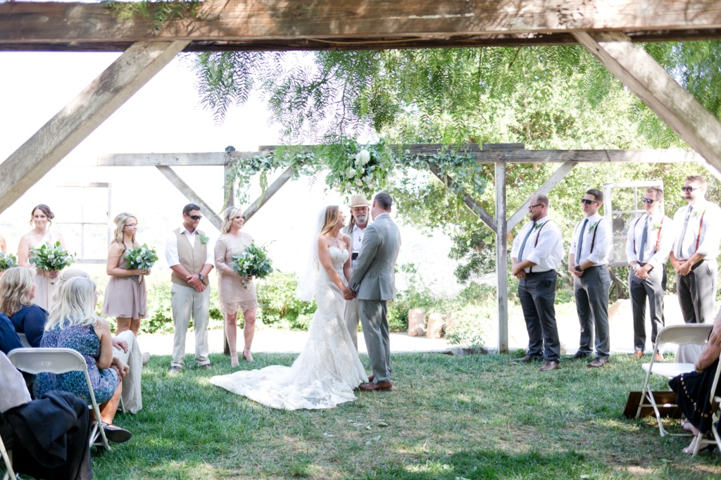Romantic Personalized Wedding at Secluded Gardens Estate in Southern California,