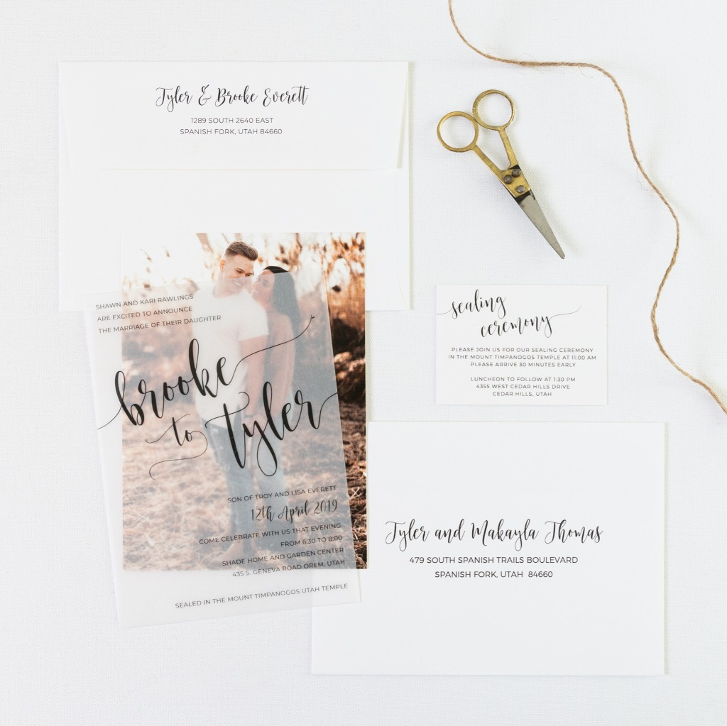 Vellum Overlays....they're dreamy, their frosty and their just adorable! Add a fun layer to your wedding invitations with our translucent