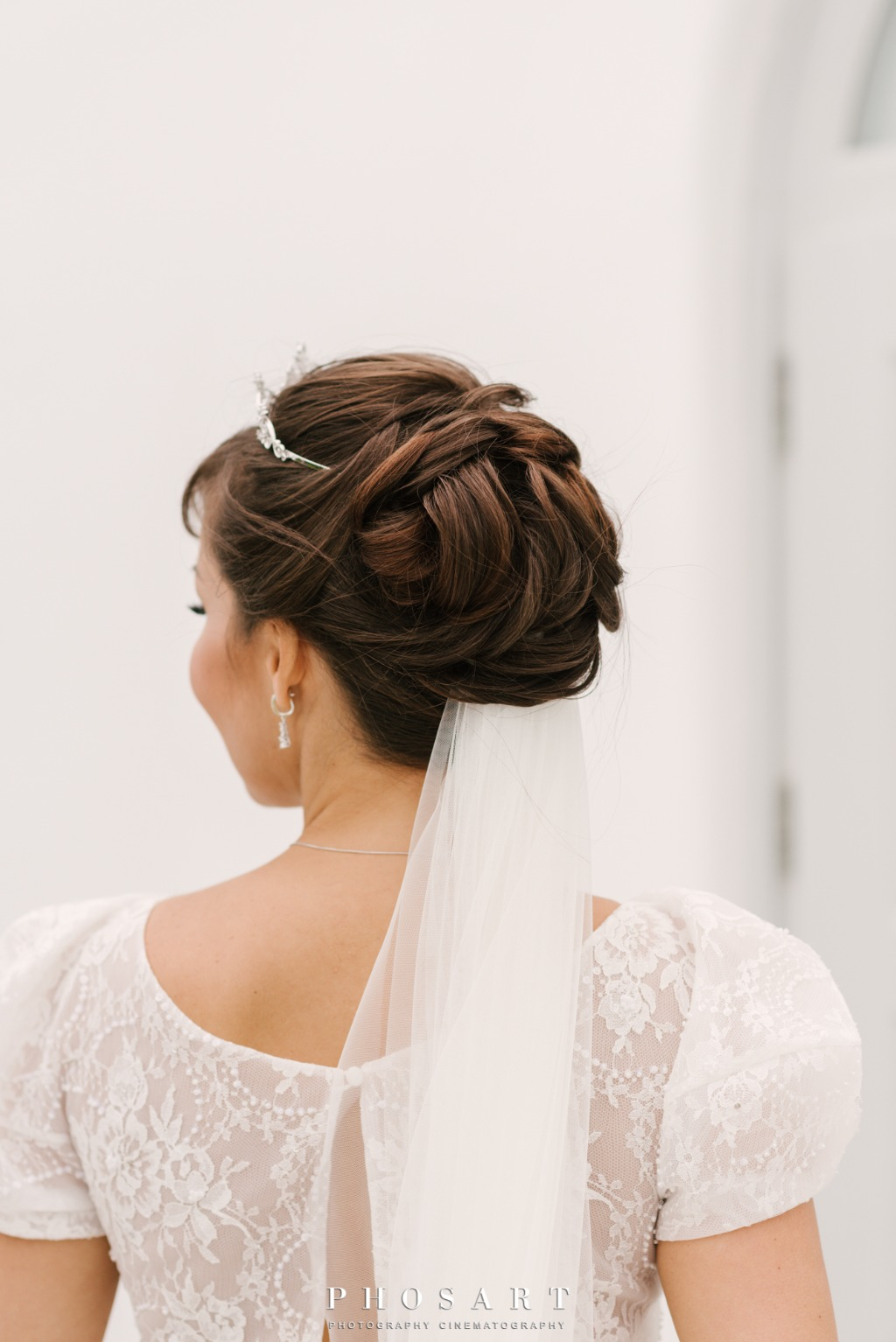 Bridal hair! Santorini, Greece.