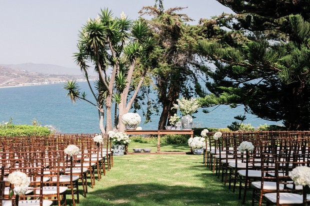 ocean view wedding ceremony