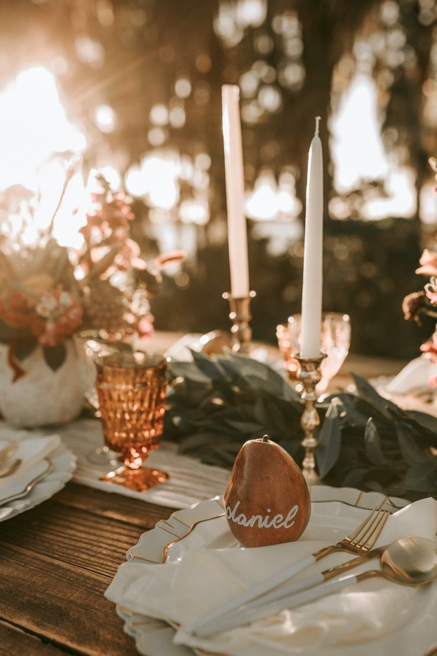 fun and sweet wedding table setting
