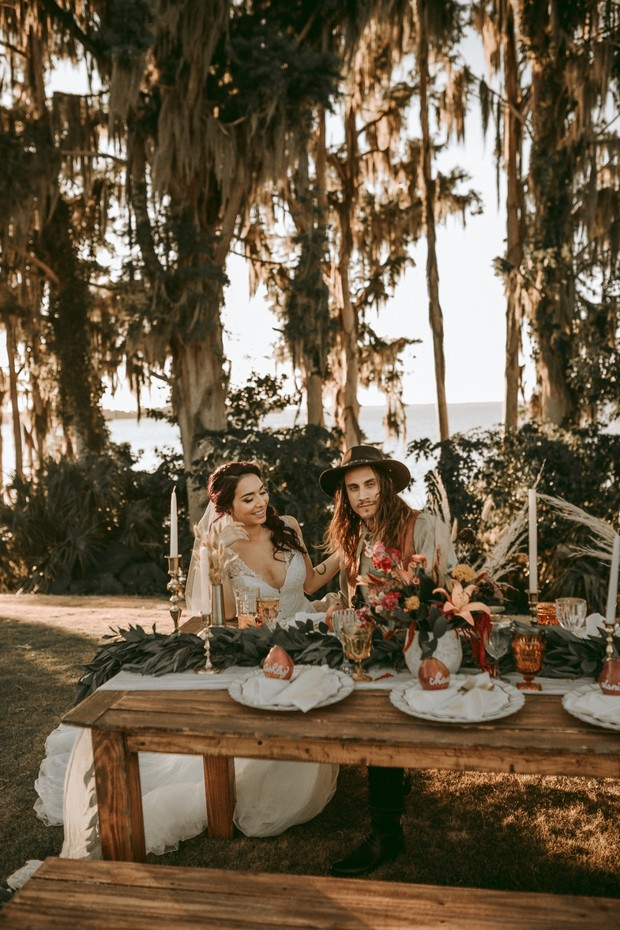 boho eco friendly wedding day