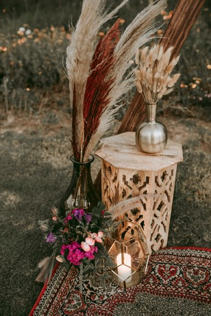 rustic eco friendly wedding decor