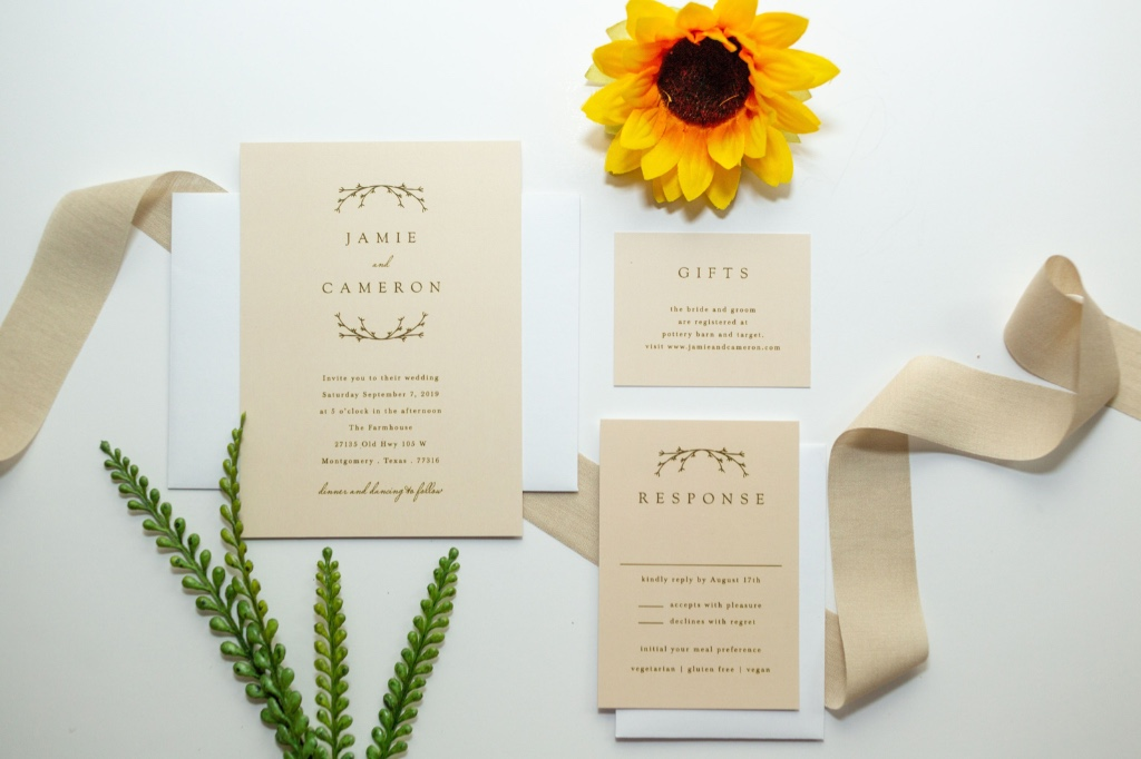 Our Charming Twig Wedding Invitation Suite is perfect for a rustic wedding! The simple design is classic yet unique!