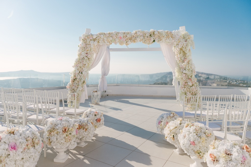 Ceremony Decoration! Santorini, Greece!