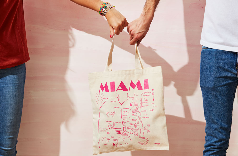 From beach weddings to art deco inspired parties we got you covered! Use out Miami Maptote or choose from over 75 other locations for