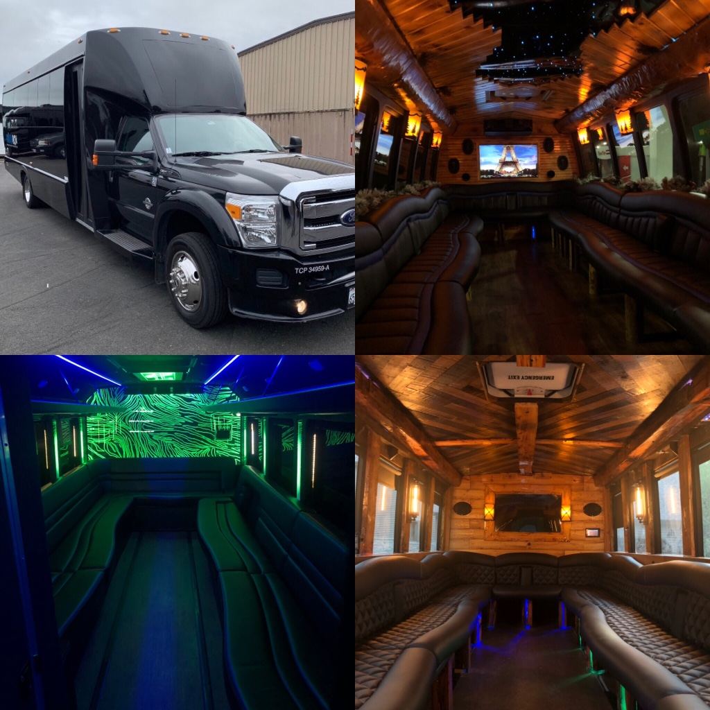 Wisconsin's only Rustic and Northwood's themed party buses! Our buses come equipped with 2018-19 interiors which includes wrap