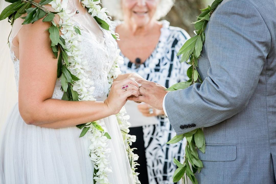 The wedding ring goes on the left ring finger because it is the only finger with a vein that connects to the heart. ⠀⠀⠀⠀