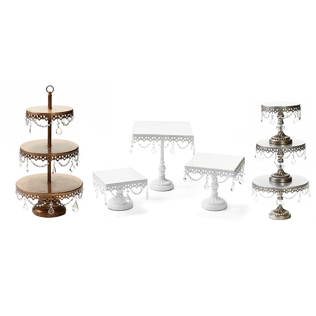 Wedding Cake and Dessert Stands by Opulent Treasures