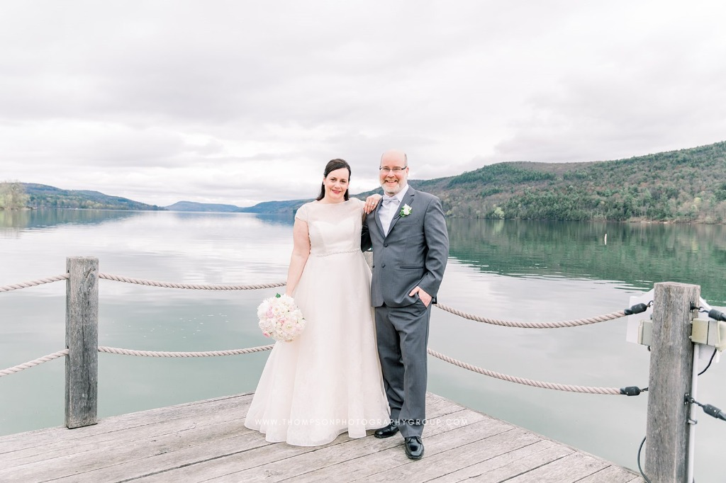 Sarah and Rich's Wedding at The Otesega. Dress: Lea-Ann Belter Bridal Astrid | bridal shop: Something Bleu Bridal | photographer
