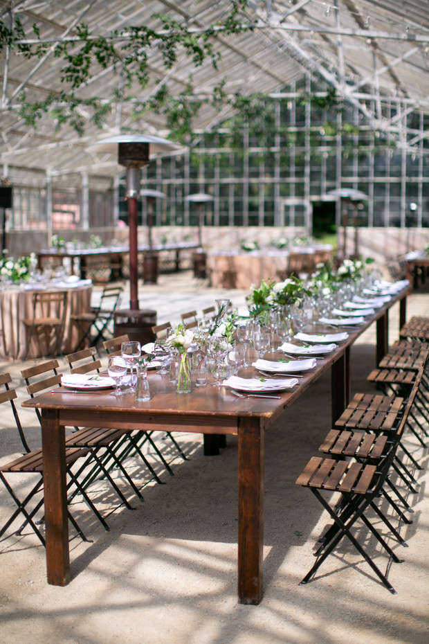 simple and chic wedding reception decor