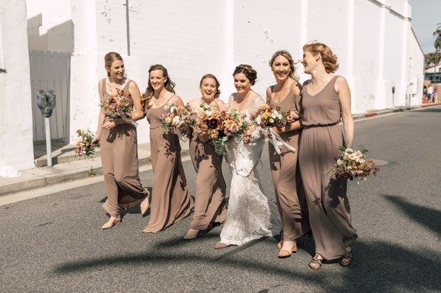 here comes the bridal party