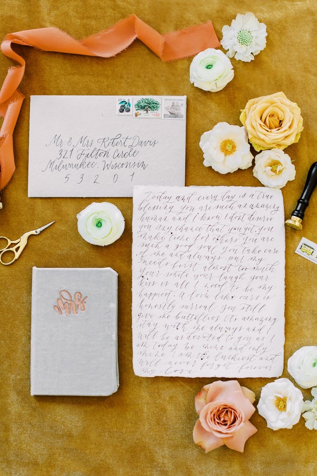 wedding vows and invitation