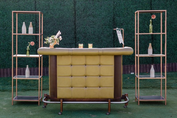 vintage wedding bar