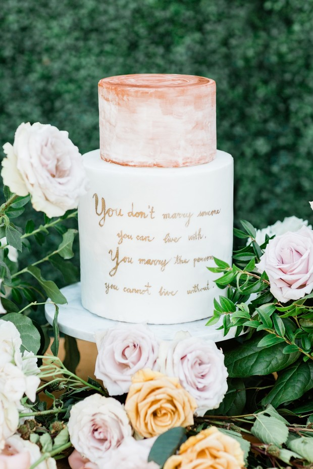 PS I love you wedding cake quote